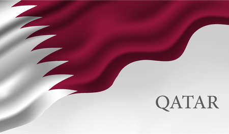 Qatar National Day, Qatar Independence Day, December 18 th. translation: Qatar national day 18 december Qatar national day, Qatar independence day, december 18 th Stock Vector - 105260436