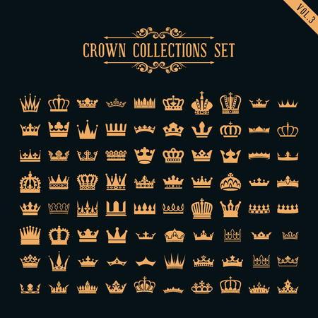 crown collection set Reklamní fotografie - 75999885