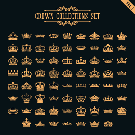 crown collection set Ilustrace