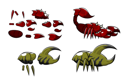 Character scorpion and crab insect kit