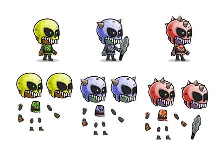 Character monster kit Illustration