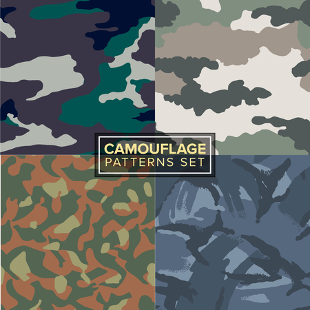 soldiers: camouflage pattern set of four different textures