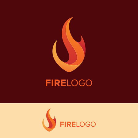 Creative Fire Logo concept. Vector File are easy editable Ilustrace