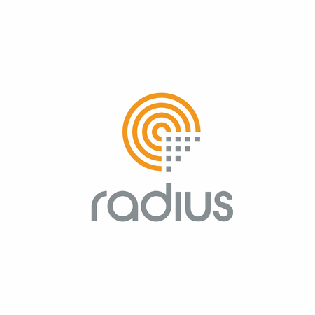 Creative Radius Technology logo concept design with circle shapes, modern and professional feel. Very nice for brand identity .