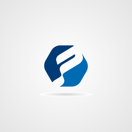Creative Modern Letter P Logo concept design with blue color, modern, clean and professional feel. Very nice for brand identity .