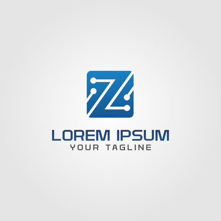 electronic circuit: Creative technology electronic logo concept design letter z and circuit, modern, clean and professional feel. Very nice for brand identity .