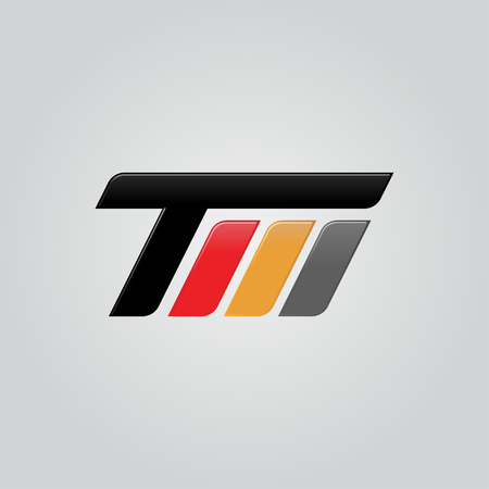 Creative letter TM logo concept design, modern, speed and professional feel. Very nice for brand identity . Vectores