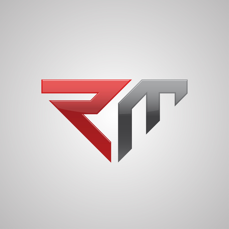 Creative letter RM logo concept design, modern, bold and professional feel. Very nice for brand identity . 版權商用圖片 - 76191728