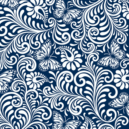 royal wedding: seamless floral pattern in Luxury Style background Illustration.