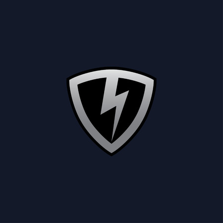 Thunderbolt Shield Logo concept design templates