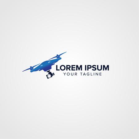 Drone media Logo concept design templates