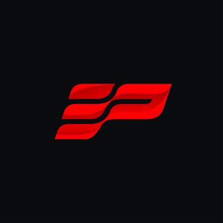 Letter E and P Logo concept design templates Stock Illustratie