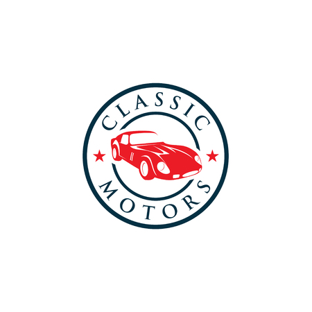 Creative Classic Cars Logo Concept Design Templates Royalty Free