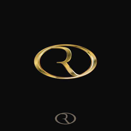 크리 에이 티브 럭셔리 편지 R 로고 컨셉 디자인 템플릿