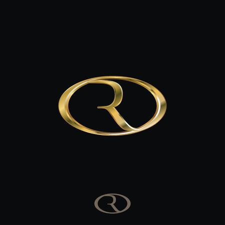 Creative Luxury Letter R Logo concept design templates