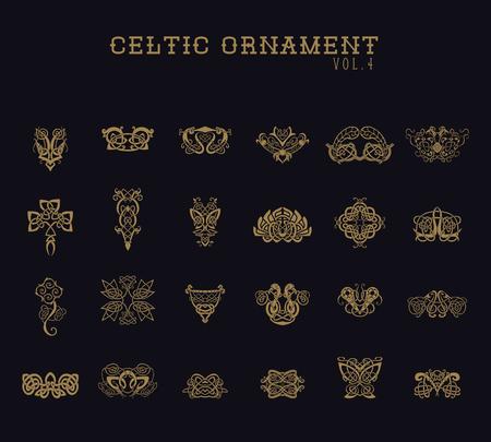 Celtic Ornament Colección conjunto Ilustración de vector
