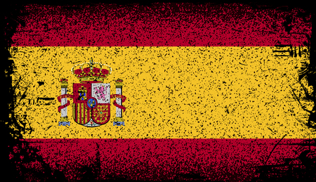 spain Grunge flag. vector Illustration Illustration
