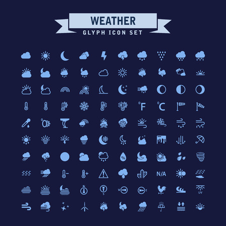 Weather Glyph Icon Set