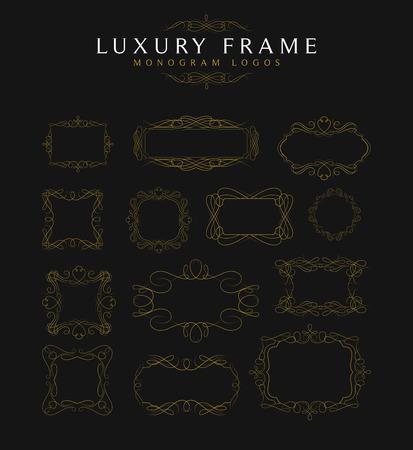 Luxury Frames calligraphy Templates Illustration