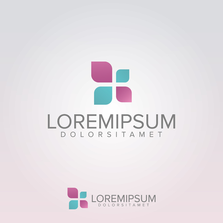 Medical Beauty Logo Template