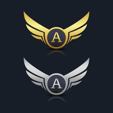 Wings Shield Letter G Logo Template design. Vector Illustration Illustration