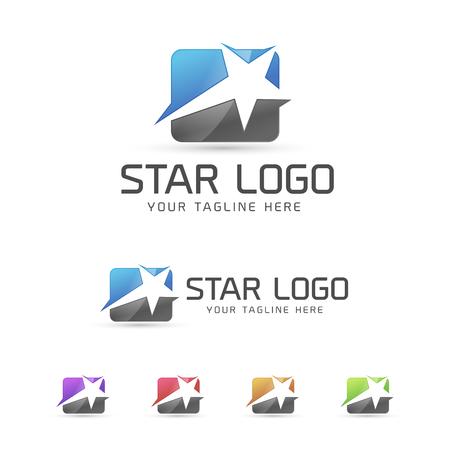 星のロゴのコンセプト
