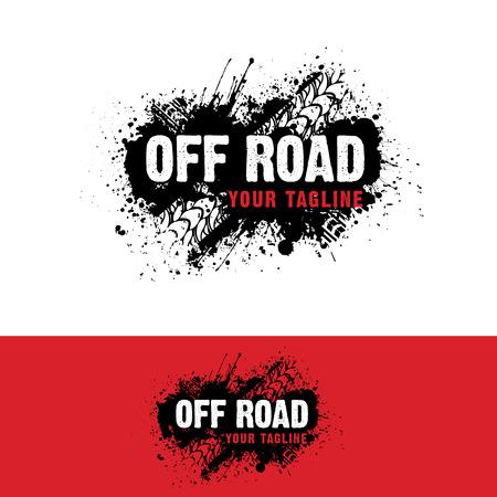 Automotive  off road Logo  イラスト・ベクター素材
