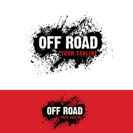 Automotive  off road Logo 일러스트