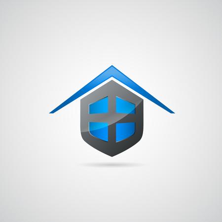 Home shield symbol logo Illustration
