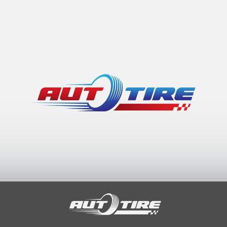 自動車タイヤのロゴ  イラスト・ベクター素材
