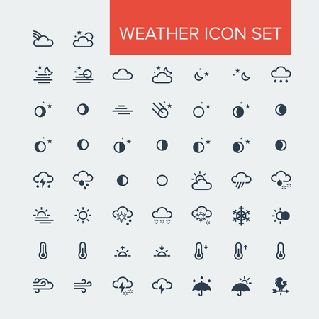 Weather Icon set Çizim