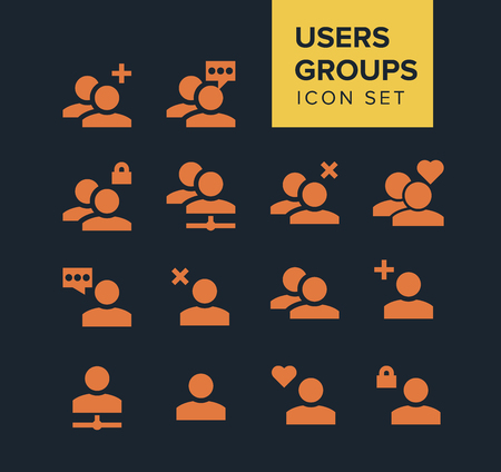 organized group: Users and groups Icon Set