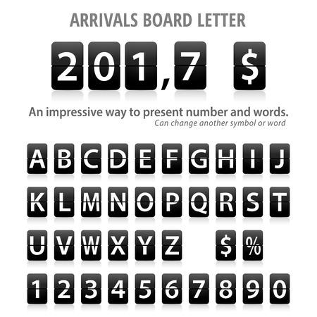 Arrival Board letters set