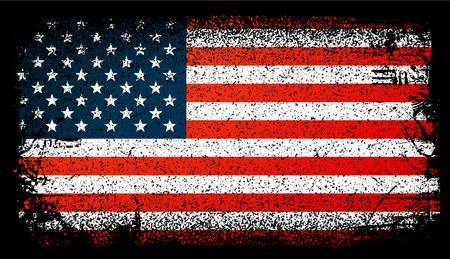 미국 그런 지 플래그, 미국 플래그입니다. 벡터 패턴 일러스트 레이 션. 일러스트