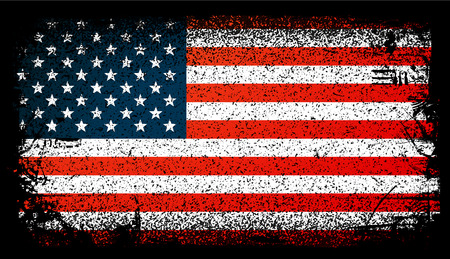Usa Grunge flag, United States Flag. Vector Pattern Illustration. Çizim