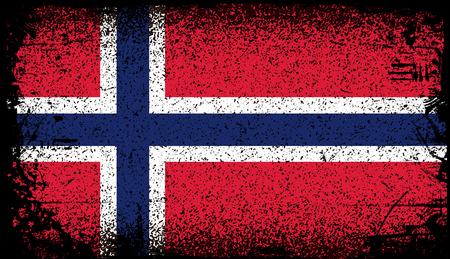 Norway Grunge flag.