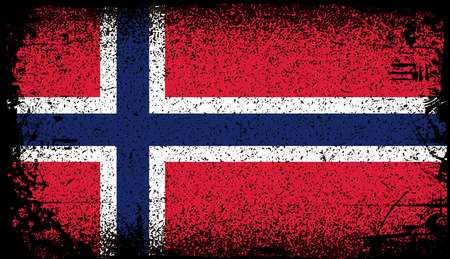 Norway Grunge flag.