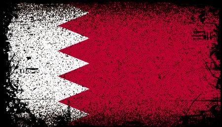 Bahrain Grunge Flag