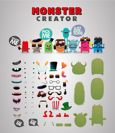 Monster kit de generador personalizado Foto de archivo - 75997596