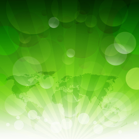 Green Sunburst Eco Pattern With Gradient Mesh, Vector Illustration Ilustração