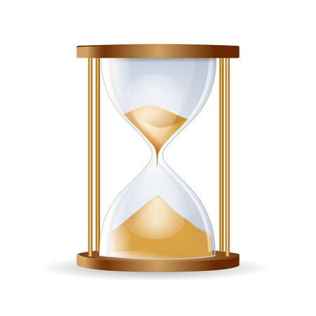 Hourglass isolated on white background.Highly detailed vector illustration Illustration