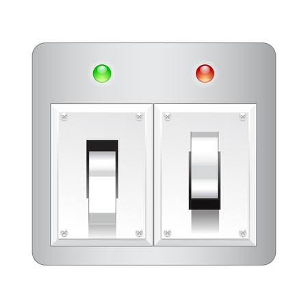 Electric switch web vector icon isolated on white.