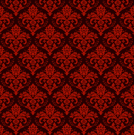 Seamless luxury ornamental background. Red  Damask seamless floral pattern. Royal wallpaper. Illustration