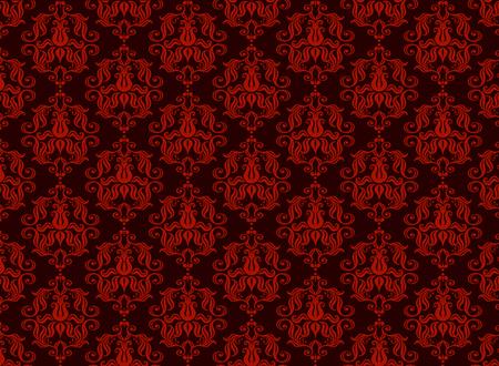 Seamless luxury ornamental background. Red  Damask seamless floral pattern. Royal wallpaper. Illusztráció