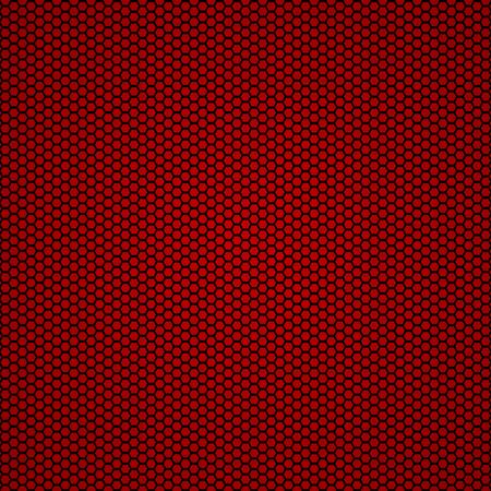 赤の炭素繊維のシームレスな背景のベクトル イラスト