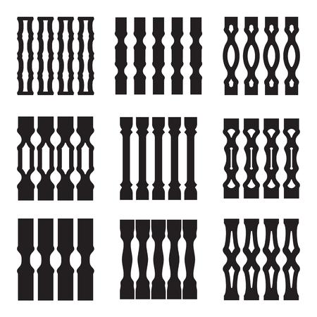 装飾的なパターンのコレクションです。幾何学的なおよび民族の装飾要素。ベクトル。分離されました。
