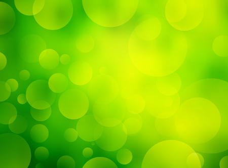 Abstract Green circular bokeh background Illustration