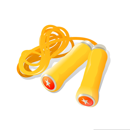 nylon: illustration of skipping rope on white background Illustration