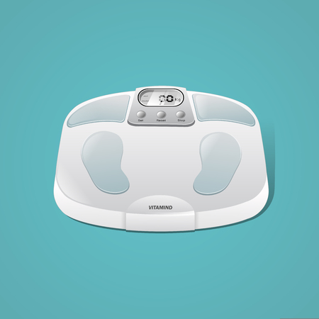 3D body weight scales Illustration
