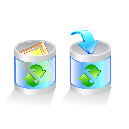 glass recycle bin vector icon. vector Illustration Illustration